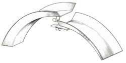 Disegno schematico di un pneumatico con cerchietto